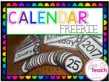 This colorful set will definitely brighten up your classroom!This product contains:*Months of Year*Days of the Week*Years (2017, 2018, 2019, 2020)*Number CardsA black and white version is also included.You may also want to check out:Calendars for the Primary Grades