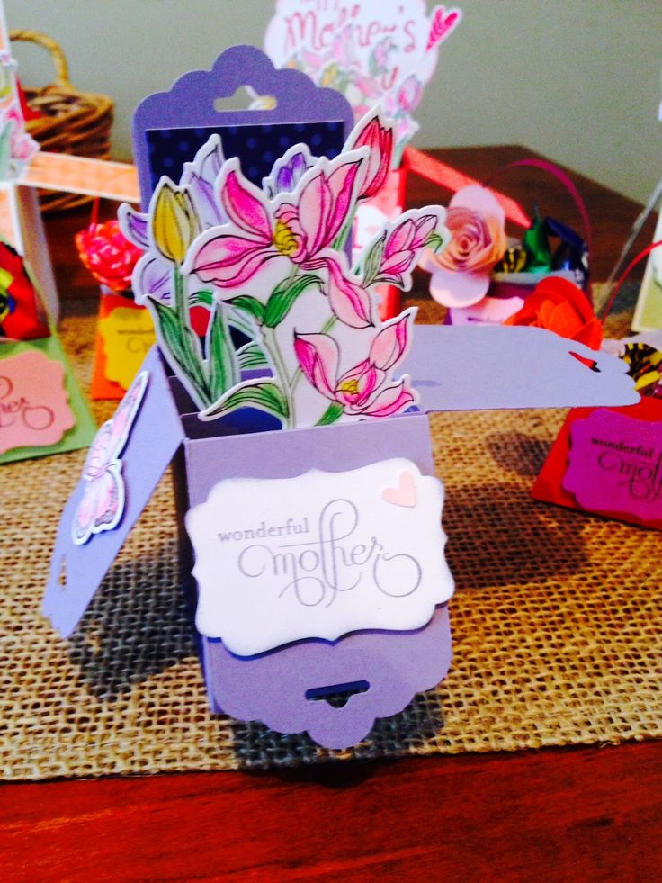 *LaLaLa ymcg crafting*: Mother's day card in a box