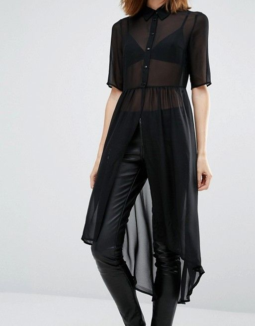 cute but what shirt would you wear under this to be not se through Vero Moda | Vero Moda Tunic Shirt Dress