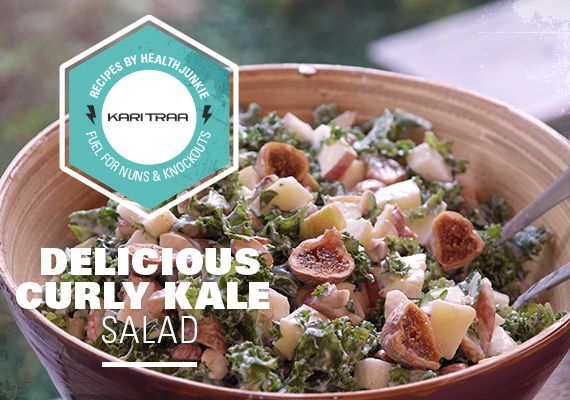 Delicious Curly Kale Salad - Fuel for Nuns & Knockouts
