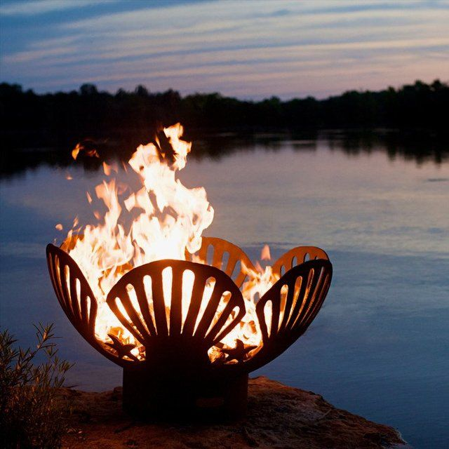 Barefoot Beach Fire Pit #Ambient, #Beach, #Cool, #Firepit