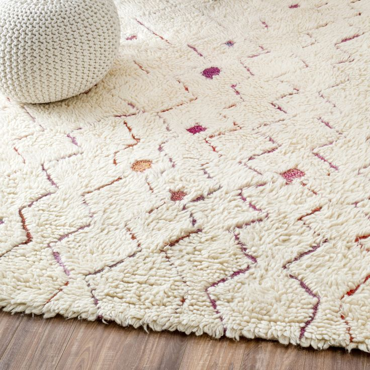Azrou Pink Shag Rug Inspired By Traditional Moroccan Patterns Our