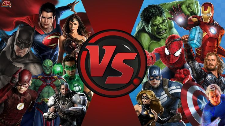 JUSTICE LEAGUE vs AVENGERS! TOTAL WAR! (DC vs Marvel) Cartoon Fight Club...