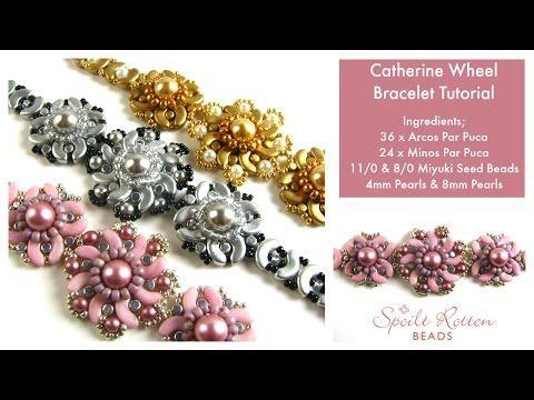 Catherine Wheel Bracelet Tutorial - Spoilt Rotten Beads