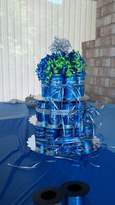 Beer cake with Bud Light