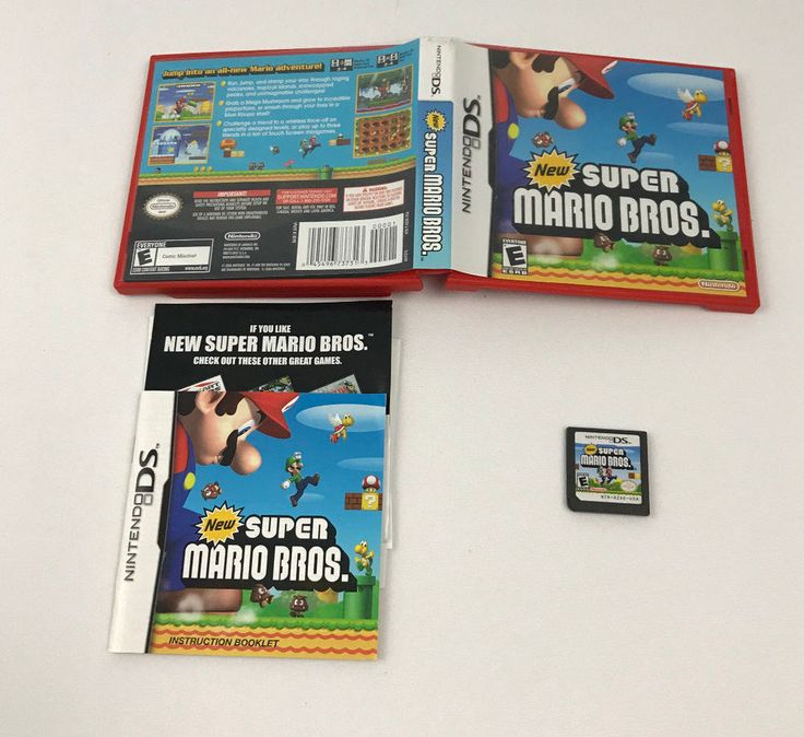 New Super Mario Bros. (Nintendo DS) Lite DSi XL 3DS 2DS COMPLETE Case Manual CIB #Nintendo