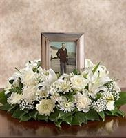 All-White Memorial Table Wreath