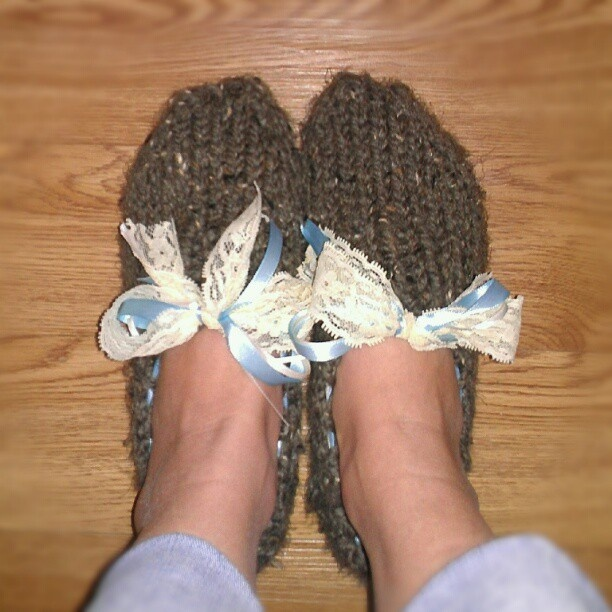 Amy March (Little Women) knitted slippers