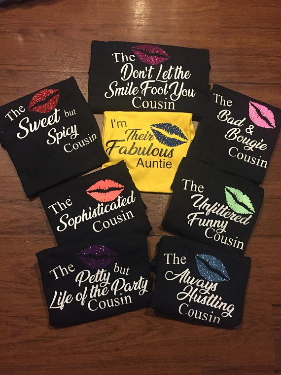 Cousin Ladies Personalised T-Shirt Gift Idea Family Relative Party Best World