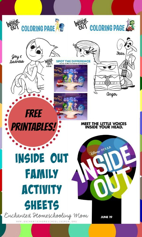 Inside Out Family Activity Sheets