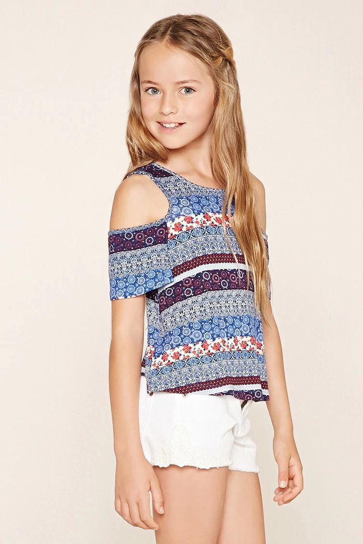 Girls Open-Shoulder Top (Kids) #f21kids
