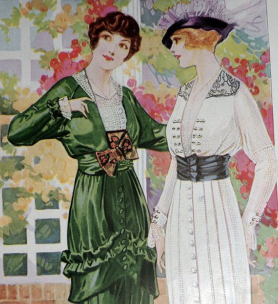 Fashion Plate from The Delineator Magazine, 1914. $8.00, via Etsy.