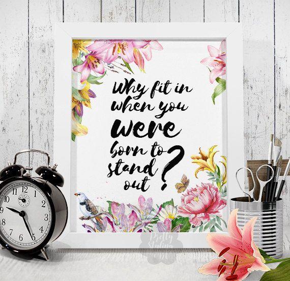 Nursery Print Decor Printable Wall Art by PrettyStylingArt on Etsy
