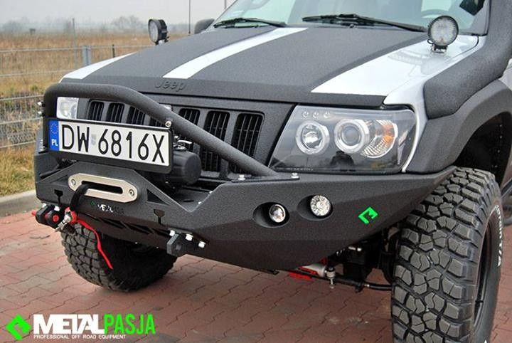 Front Bumper Bar Metal Pasja For Jeep Grand Cheeroke Wj 1999 2004 Steel 3 Mm Thick Precise Design Price Is For Basic Versio Jeep Wj Jeep Grand Jeep Cherokee