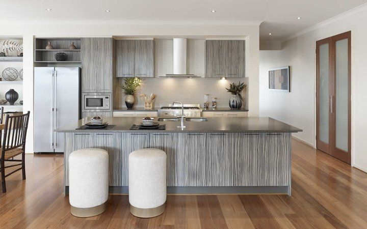 Metricon homes from the lindeman layout suits our for Laminex kitchen designs