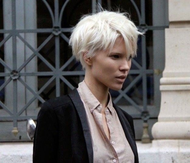 light messy short haircut for girls