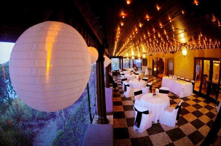 Black & White with fairy lights... Letting the Villa Botanica verandah show off a little x