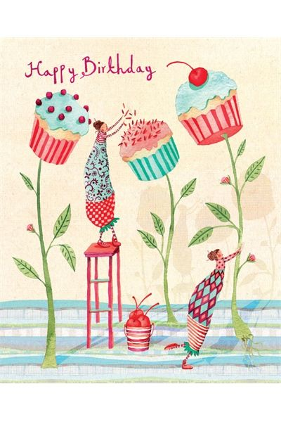 Cupcake flowers by Holly Clifton Brown I only wish cupcakes would grow as flowers.... --- http://tipsalud.com ----- #compartirvideos.es #happybirthday
