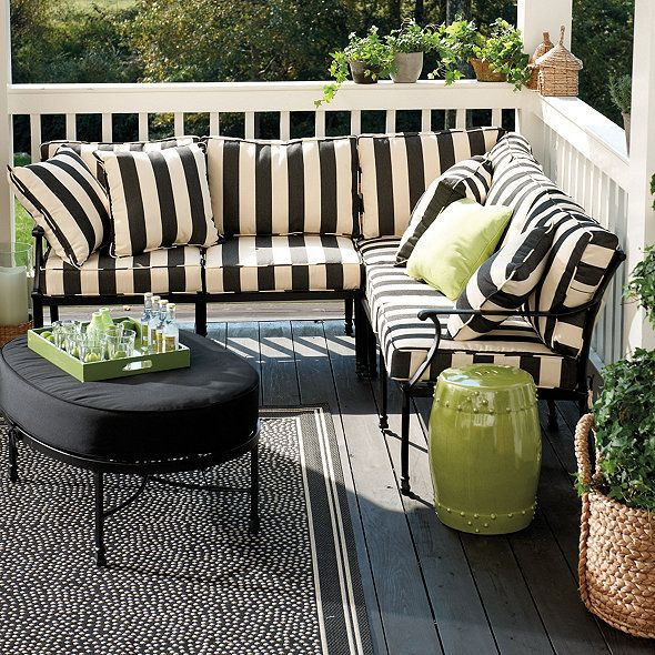 Many delightful fabrics add up to endless summer options for your outdoor living space. All of our Outdoor Pillows are covered in fade resistant, stain resistant Sunbrella or 100% polyester fabric for lasting wear. Sizes fit most standard outdoor furniture, so you can give your existing pieces a fresh new look. Outdoor Piped Throw Pillow features:Mix and match fabrics for a designer lookSelf-piped edgeQuick-drying poly-fillSpot cleanImported