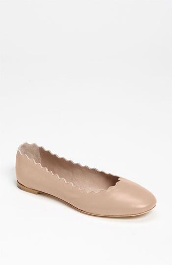 scalloped ballet flats / chloe
