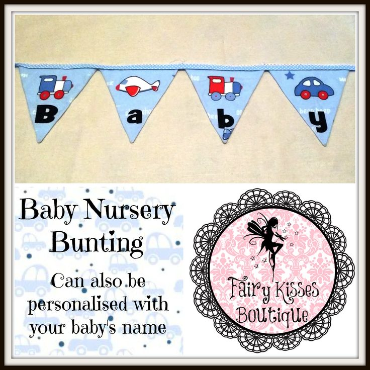 Baby Bunting, perfect for the nursery, Cam also be personalised with your baby's name