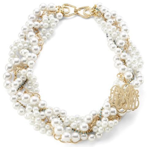 SOUTHERN LIVING GLASS PEARL NECKLACE - Moon and Lola