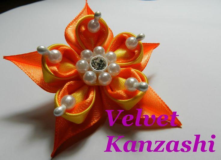 Kanzashi flower - Flor Kanzashi