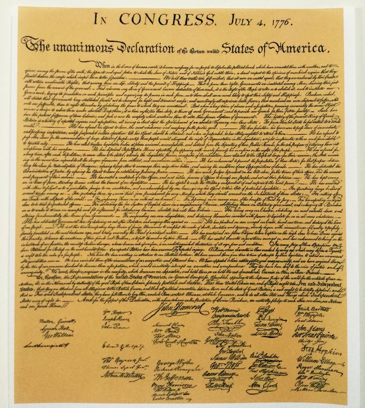 Hosting a 'Sign Your Copy of the Declaration of Independence' 4th of July Party