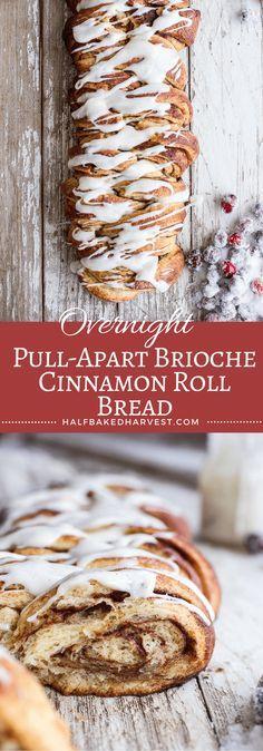 Overnight Pull-Apart Brioche Cinnamon Roll Bread | http://halfbakedharvest.com @hbharvest