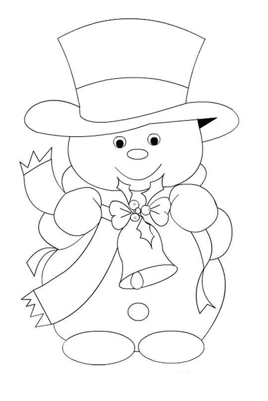 snowman. Muñeco de nieve infantil