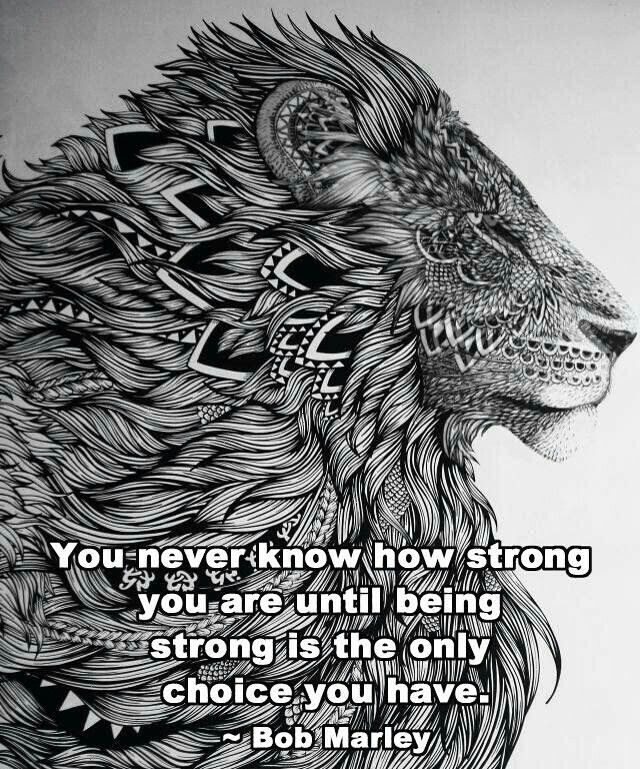bob marley on being STRONG
