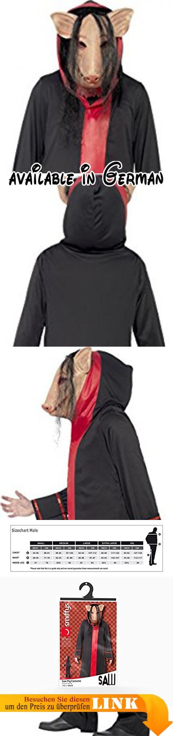 B000WNHAA8 : Smiffys Herren Saw Schweine Kostüm Maske und Kapuzenmantel Größe: M 20494. Saw Schweine Kostüm Kostüm für Herren Inklusive: Maske und Kapuzenmantel Ideal für Innen- und Außenveranstaltungen Perfekt für Karneval Halloween oder Themenpartys. Größe M: Brustumfang (97-102 cm) Taille (81-86 cm) Innenbein (83 cm) Tragen über Kleidung möglich Leichtes Material für angenehmes Tragegefühl. Einfaches An- und Ausziehen dank Klettverschluss. Für