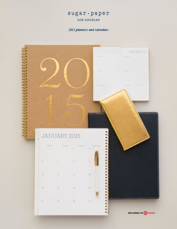 I love being paperless with my Samsung Note tablet but these beautiful 2015 planners from Sugar Paper at Target made my heart skip a beat when I spotted them on the end cap - maybe just one?  ...But I really want all of them.