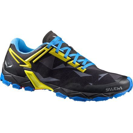 Now that the snow is thawing in the mountains, it's time to lace up the Salewa Men's Lite Train Trail Running Shoe and get those legs back in shape. It strikes the ideal balance between grip, durability, lightness, and breathability to help you get back into mid-season form in no time.The 3F Total System connects to the shoe's lacing area to ensure optimal comfort, stability, and increased foot control where you need it most.