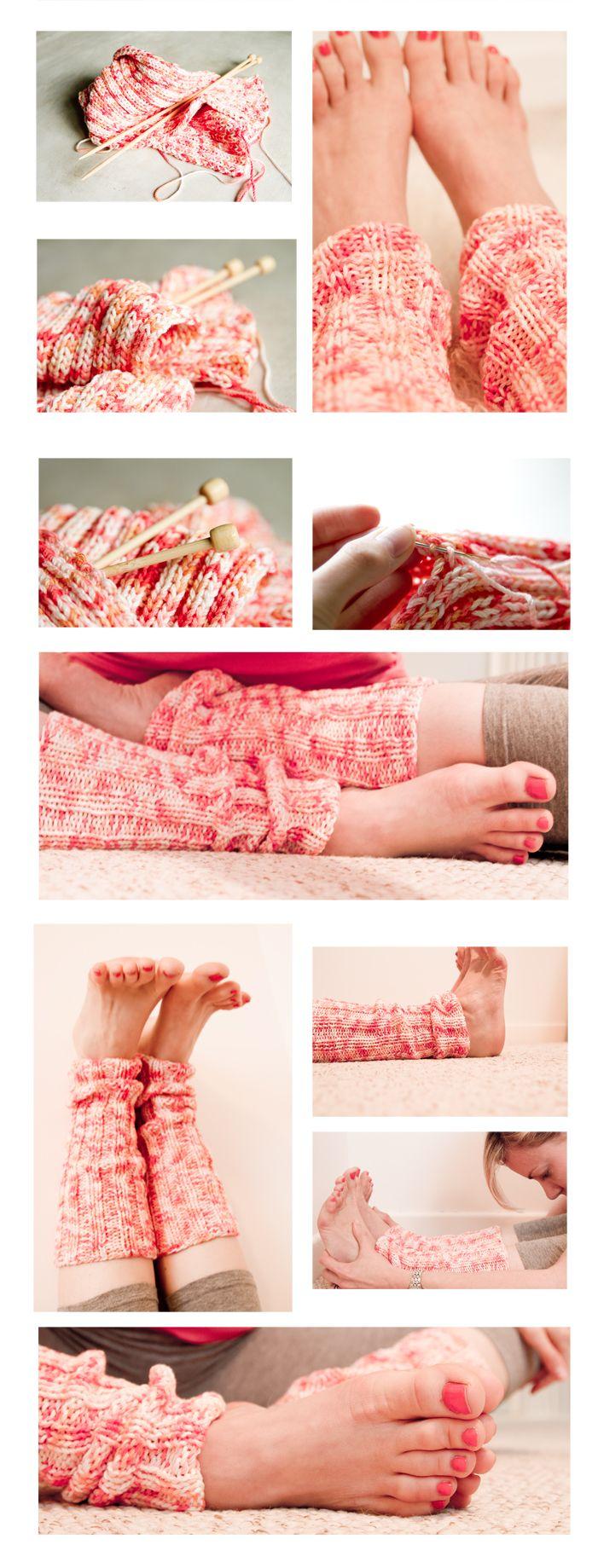 Yoga leg warmers knitting pattern | Yogahound blog