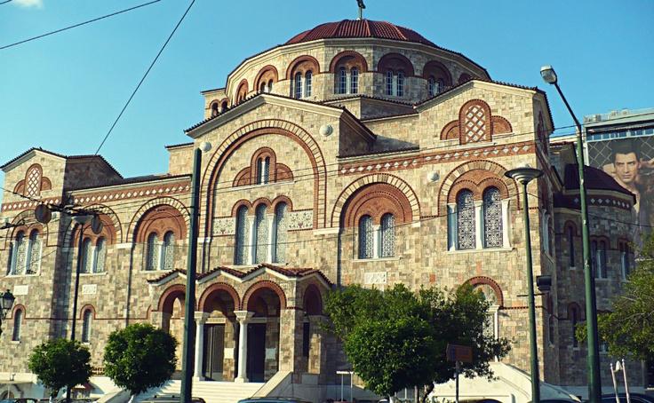 Agia Triada was built in 1845 and is Piraeus' Cathedral. (Walking Athens, Route 24 - Piraeus)
