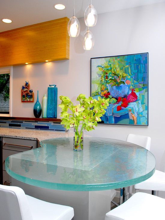 The Design Firm, BRADSHAW DESIGNS, Did The Kitchen Design Including The Glass  Countertop By