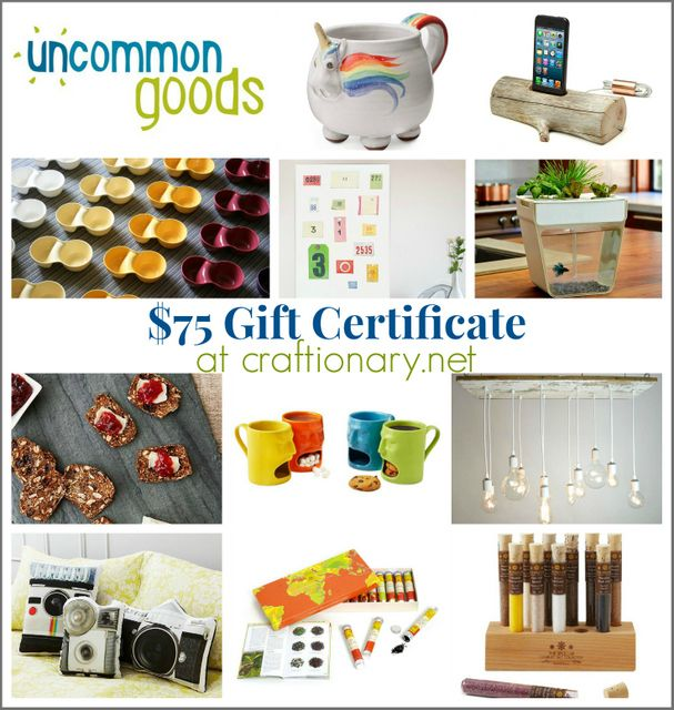 Uncommon goods $75 Gift Card #giveaway ends Jan 12, 2014.