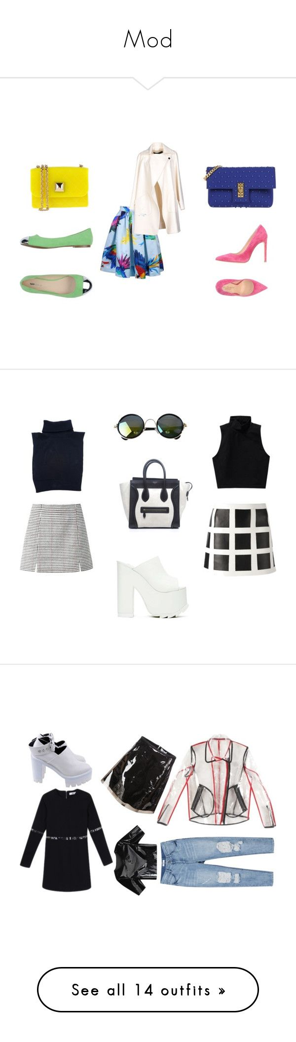 """Mod"" by xxxthebombshellfactoryxxx ❤ liked on Polyvore featuring Daizy Shely, Karl Lagerfeld, Hervê Guyel, Paul & Betty, La Fille Des Fleurs, Cédric Charlier, Talula, Dsquared2, CÉLINE and Y.R.U."