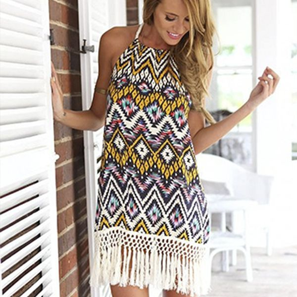 Cheap party squirrel, Buy Quality party parcel directly from China party dress size 22 Suppliers: 	Women Aztec Print Lace Sleeveless Backless Party Evening Short Mini Summer Beach Dress 	  			Size: S ,M ,L 				Mat