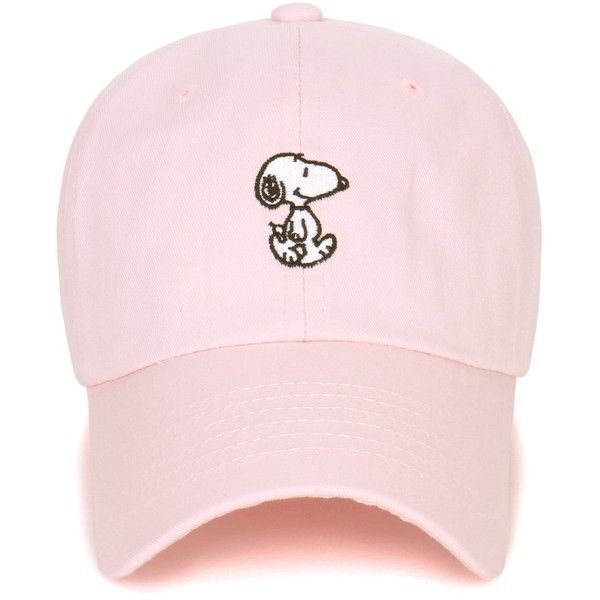 Peanuts Cotton Solid Color Cute Snoopy Embroidery Curved Casual Hat... (1,300 INR) ❤ liked on Polyvore featuring accessories, hats, baseball caps hats, baseball cap, embroidered baseball caps, baseball hats and embroidered hats