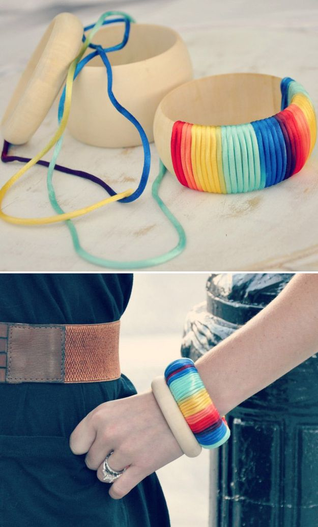 An Ombre Wrapped Cuff | 46 Ideas For DIY Jewelry You'll Actually Want To Wear