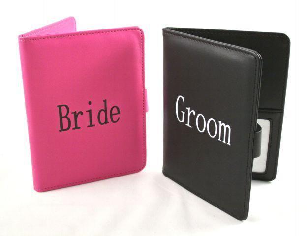 Passport Folders - Bride and Groom