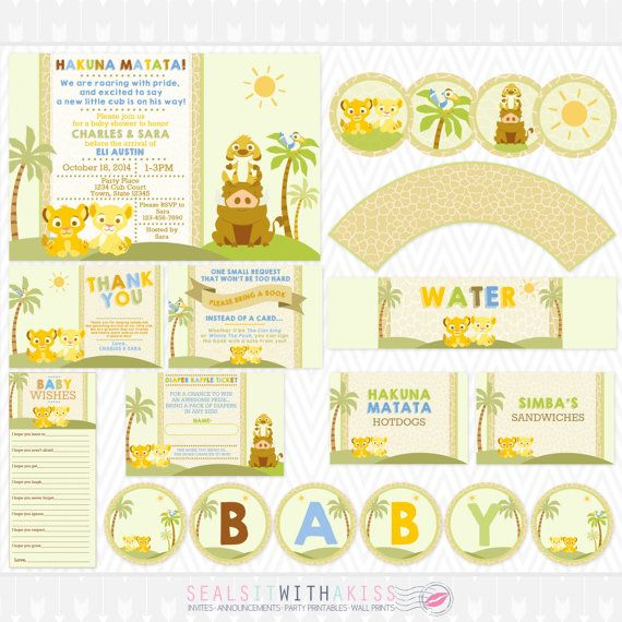 11 best baby girl lion king baby shower images on pinterest lion baby lion king baby shower party printable by sealsitwithakiss filmwisefo Choice Image