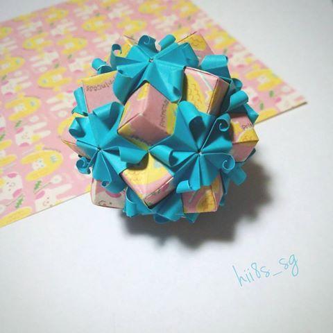 クリスマス 折り紙 折り紙 くす玉 難しい : jp.pinterest.com