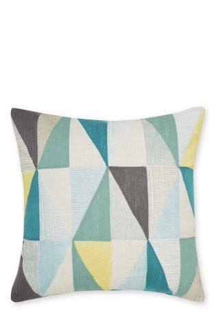 Buy Embroidered Geo Cushion from the Next UK online shop
