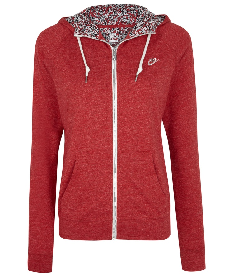 Red Time Out Hoody, Nike x Liberty.  Liberty collection at Liberty.co.uk