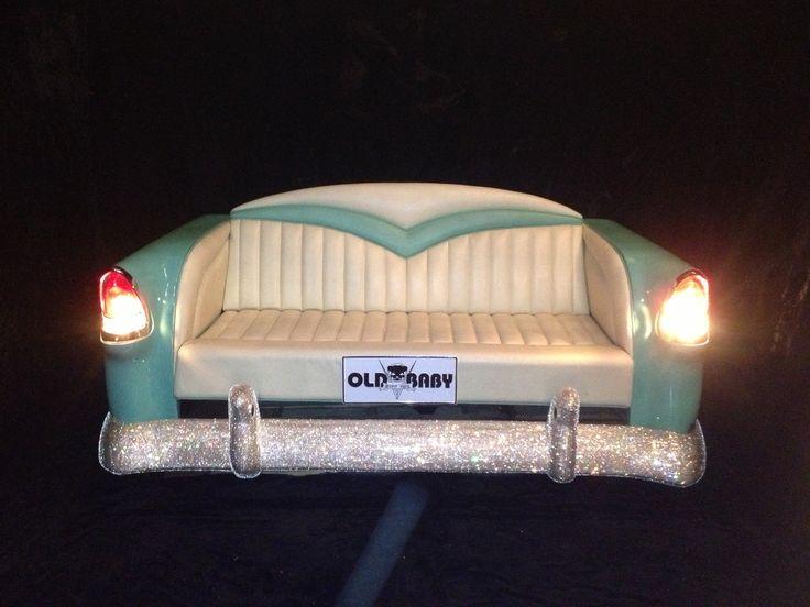 Green and Cream With Swarovski Car Sofa Idea NO.7