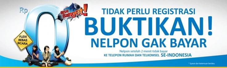 Gratis Nelpon ke Telpon rumah dan ke GSM Telkomsel setelah menit ke-2 dan seterusnya, berlaku untuk tiap panggilan dan tanpa registrasi.