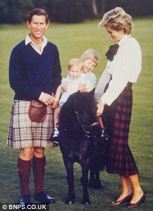1985 in Scotland.  HRH Prince Charles, Princess Diana, Prince Harry and Prince William.  Love this picture!